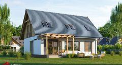 Gotowy projekt domu Mały dom z widokiem E-221