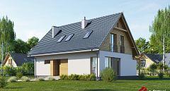 Projekt domu E-222 Mały dom z 4 pokojami