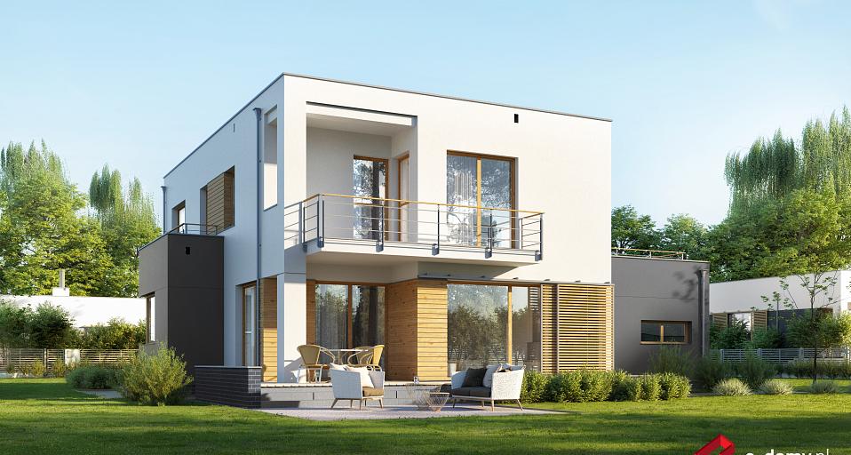 Projekt domu Dom z gabinetem od frontu E-206