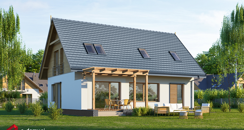 Projekt domu Mały dom z 4 pokojami E-222