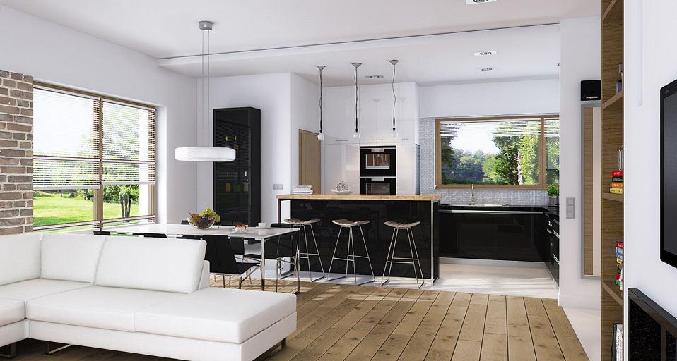 Projekt domu E-215 Dom z czterema sypialniami