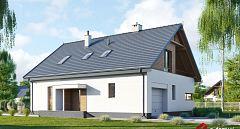Projekt domu E-223 Prosty dom z poddaszem
