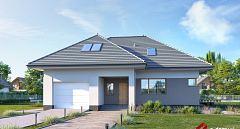 Projekt domu E-225 Komfortowy dom czterospadowy