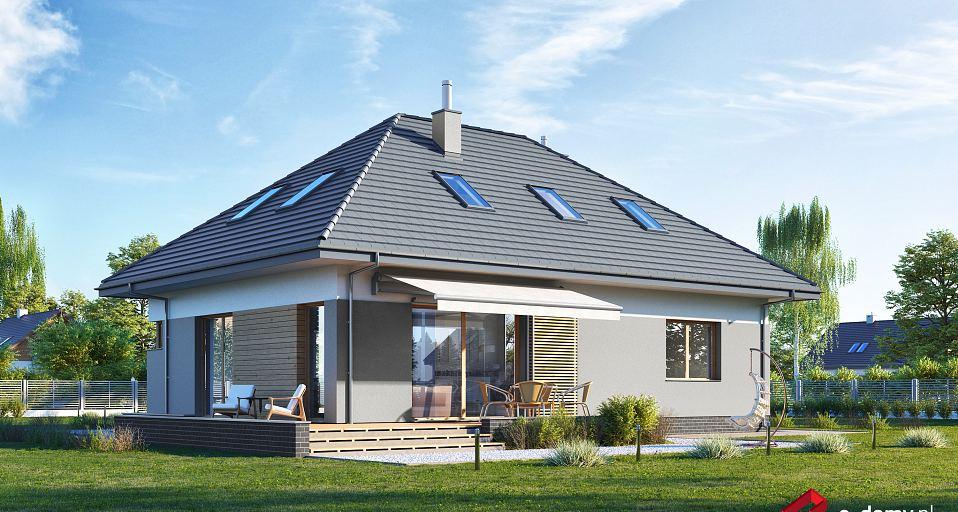 Projekt domu Komfortowy dom czterospadowy E-225