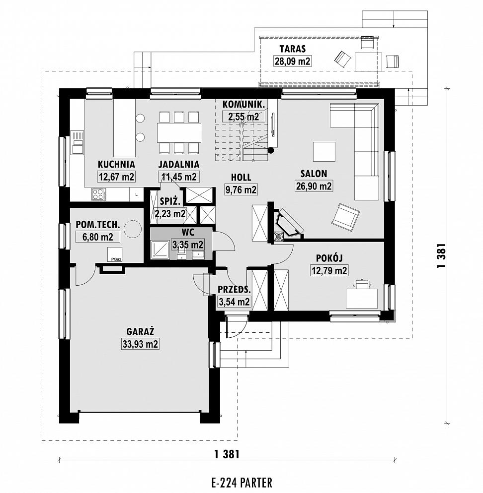 E 224 E Domypl Projekty Domów Jednorodzinnych