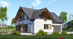 Projekt domu E-203 Dom na wąskie działki