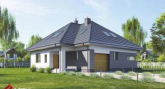 Projekt domu E-228 Dom z pokojem seniora