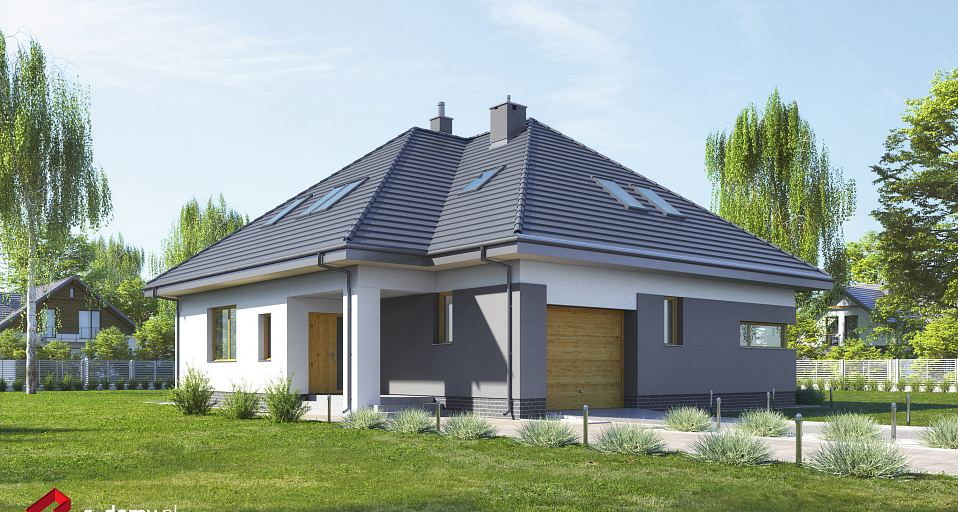 Projekt domu Dom z pokojem seniora E-228