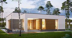 Projekt domu E-233 Wygodny dom parterowy