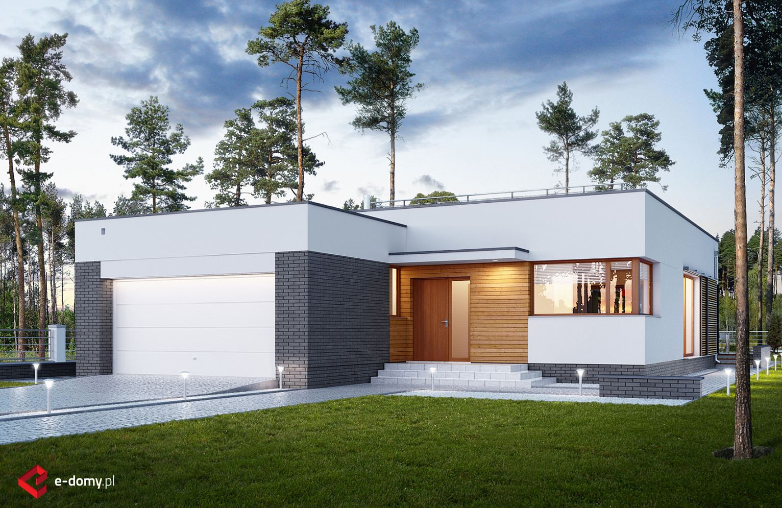E 234 E Domy Pl Projekty Domow Jednorodzinnych Nowoczesnych