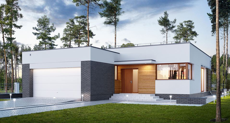 Projekt domu Nowoczesny dom dla licznej rodziny E-234
