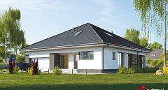 Projekt domu E-232 Symetryczny dom z 3 sypialniami