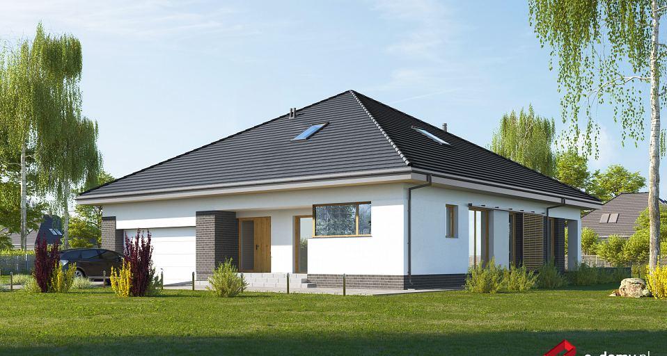 Projekt domu Symetryczny dom z 3 sypialniami E-232