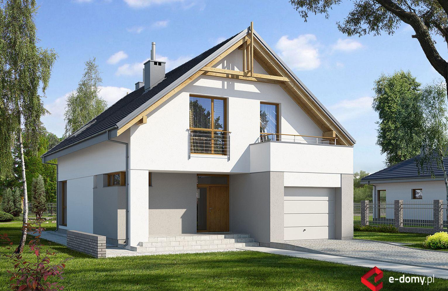 E 107 Mały Dom Na Wąską Działkę E Domypl Projekty Domów