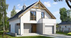 Projekt domu E-107 Mały dom na wąską działkę