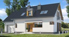 Projekt domu E-161 Mały dom z czterema pokojami