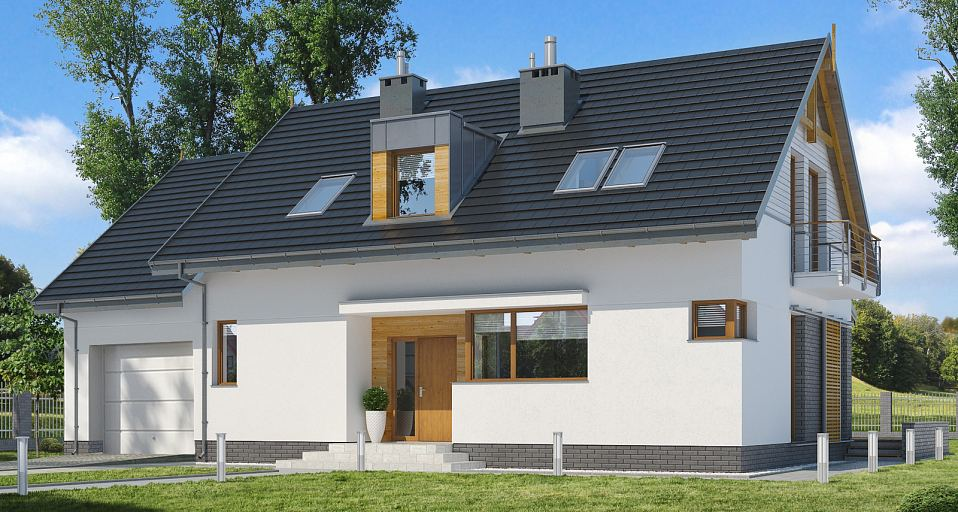 Projekt domu Mały dom z czterema pokojami E-161