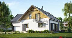 Projekt domu E-237 Dom z dwuspadowym dachem