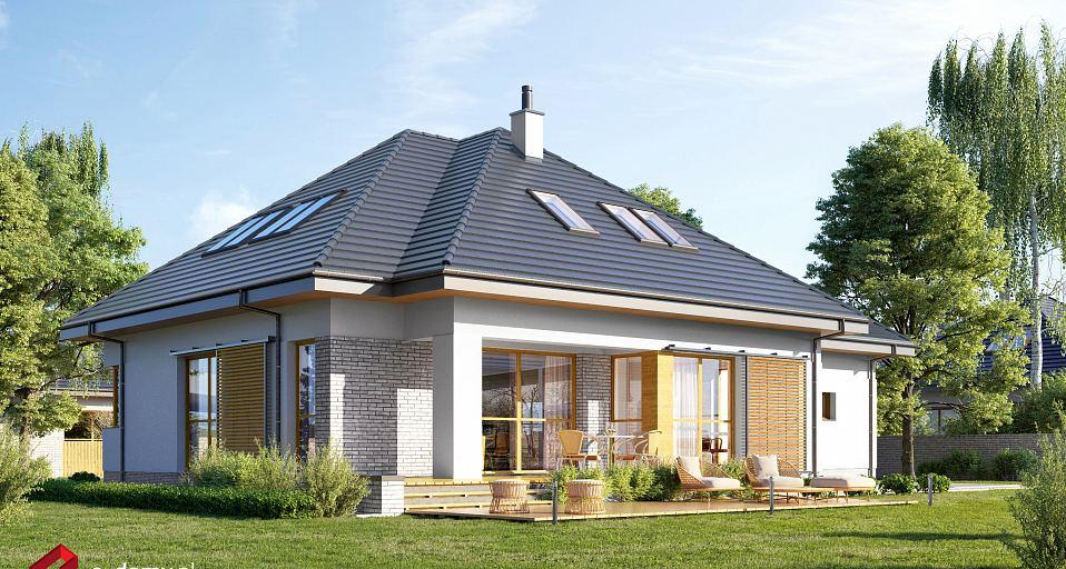 Projekt domu Dom dla dużej rodziny E-209