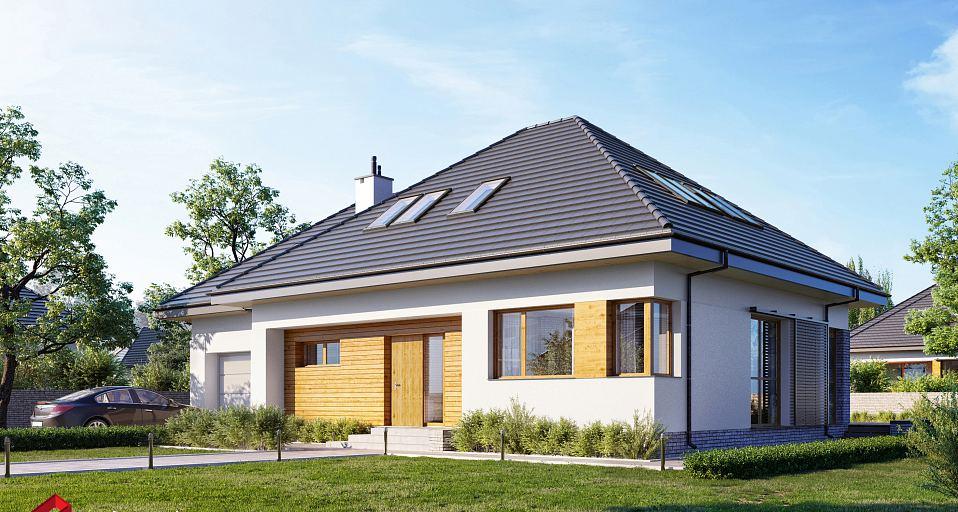 Projekt domu Dom dla rodziny wielopokoleniowej E-210