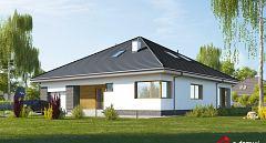 Projekt domu E-239 Wygodny dom symetryczny