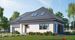 Projekt domu E-241 Funkcjonalny dom z poddaszem