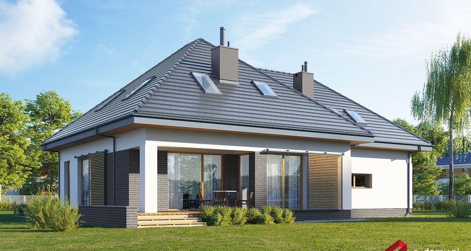 Projekt domu Funkcjonalny dom z poddaszem E-241