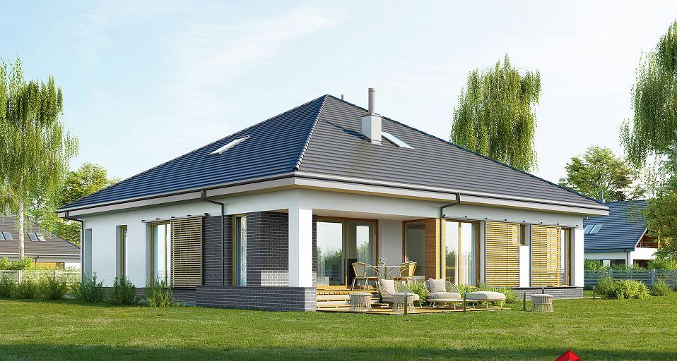 Projekt domu Dom parterowy z trzema sypialniami E-240