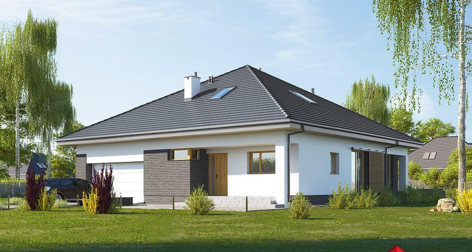 Projekt domu Dom namiotowy z 3 sypialniami E-244a