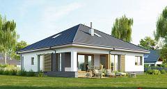 Projekt domu E-244 Dom namiotowy z 2 sypialniami