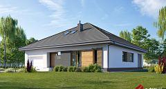 Projekt domu E-245 Rodzinny dom z 5 pokojami