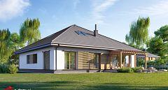 Projekt domu E-246 Duży dom parterowy