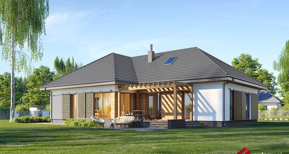 Projekt domu Dom parterowy z tarasem z boku E-250