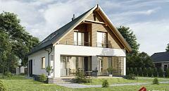 Projekt domu E-255 Dom z dwuspadowym dachem