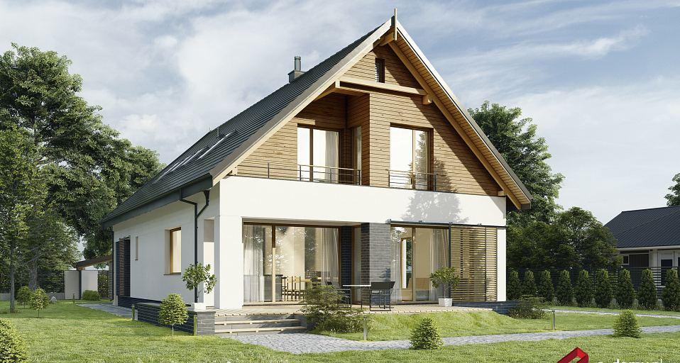 Projekt domu Dom z dwuspadowym dachem E-255