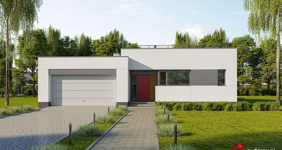 Projekt domu Parterowy dom z płaskim dachem E-253