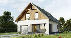 Projekt domu E-254 Dom o tradycyjnej bryle