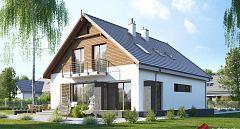 Projekt domu E-256 Optymalny dom na wąskie działki