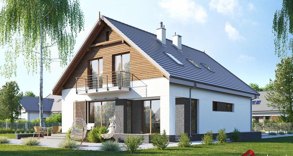 Projekt domu Optymalny dom na wąskie działki E-256