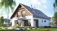 Projekt domu E-257 Wygodny dom z dwuspadowym dachem