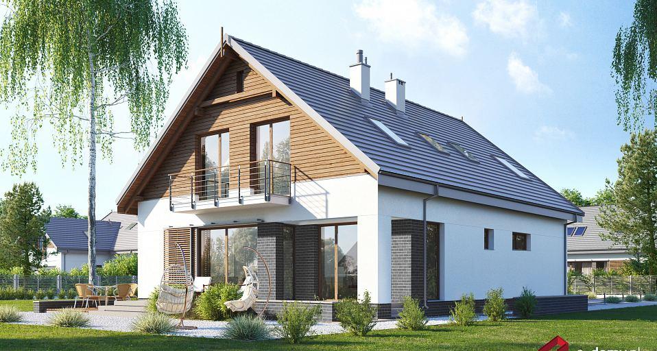 Projekt domu Wygodny dom z dwuspadowym dachem E-257
