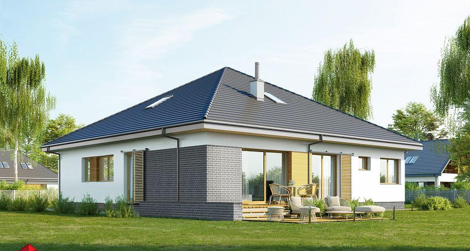 Projekt domu Dom namiotowy z pokojem od frontu E-244b