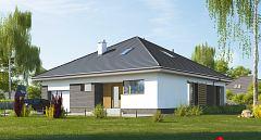 Projekt domu E-247 Funkcjonalny dom parterowy