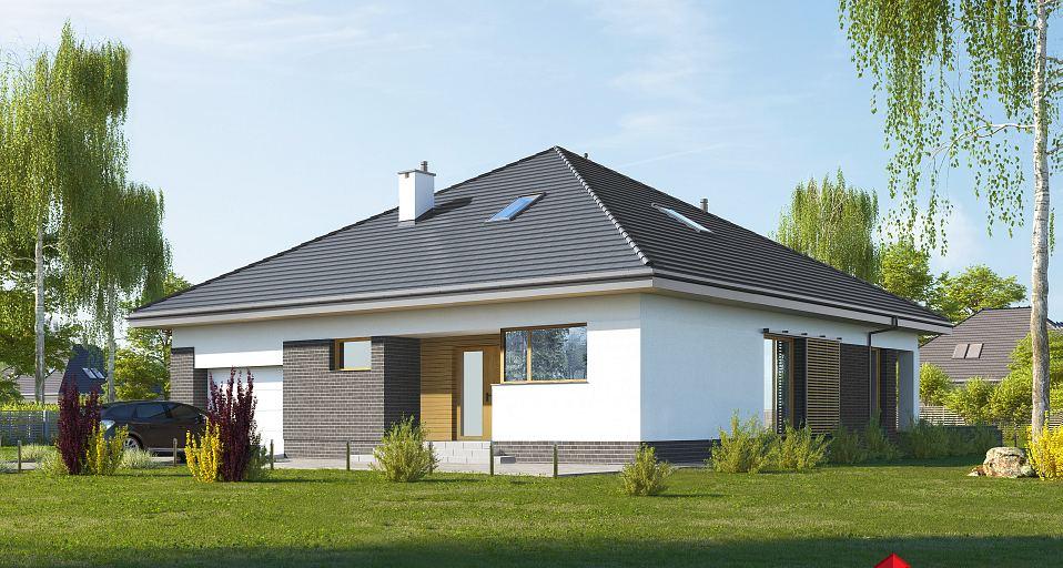 Projekt domu Funkcjonalny dom parterowy E-247