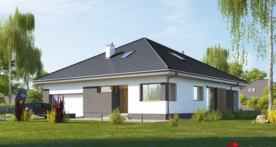 Projekt domu Dom na planie kwadratu, z gabinetem E-238a