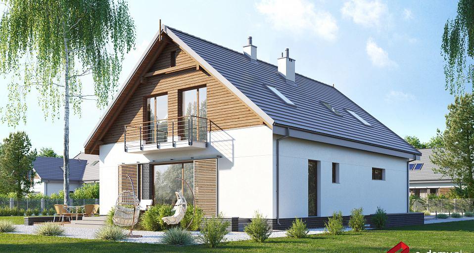 Projekt domu Dom o tradycyjnej bryle E-254