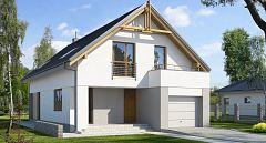 Projekt domu E-107a Dom z gabinetem na wąskie działki