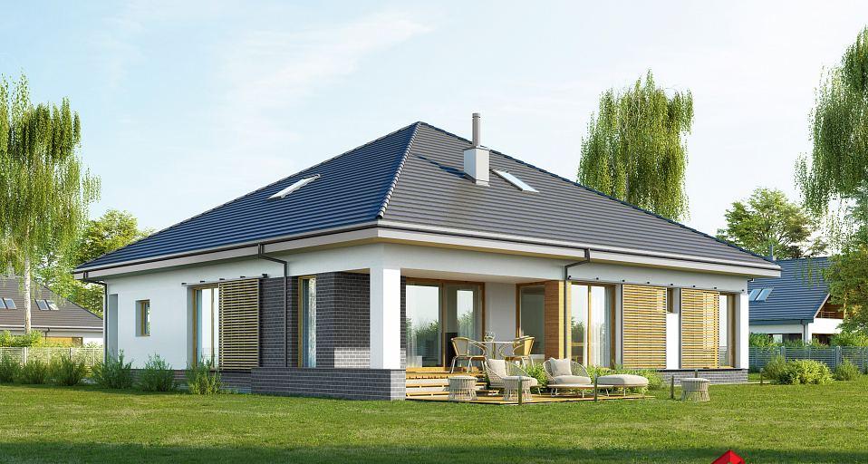 Projekt domu Dom parterowy z 3 sypialniami E-230a