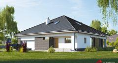 Projekt domu E-261 Funkcjonalny dom parterowy