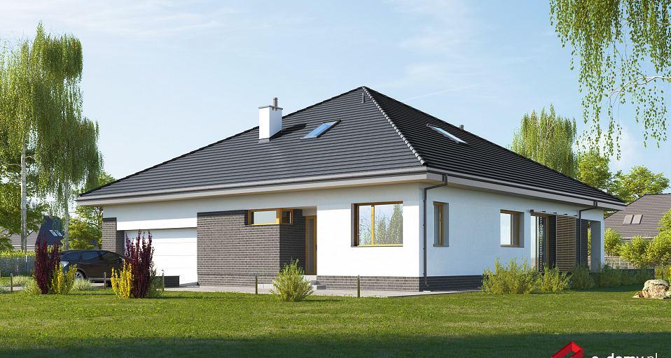 Projekt domu Komfortowy dom parterowy z gabinetem E-262